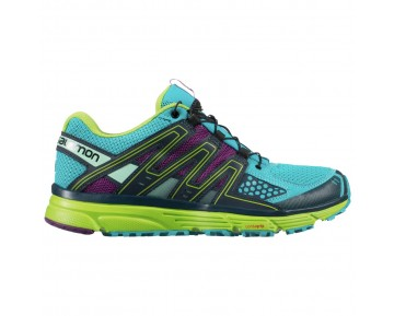 Chaussure Salomon X-MISSION 3 W pour Femme Turquoise/Violet/Vert Chaussures De Running 378288