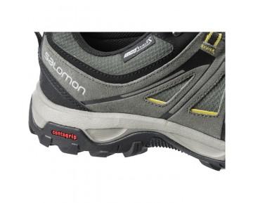Chaussure Salomon EVASION CS WP pour Homme Noir/Gris/Jaune Chaussures De Randonnée 378371
