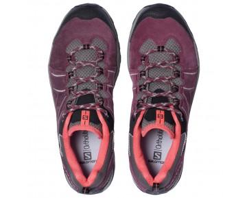 Chaussure Salomon ELLIPSE 2 LTR W pour Femme Bordeaux/Rose/Noir Chaussures De Randonnée 378633