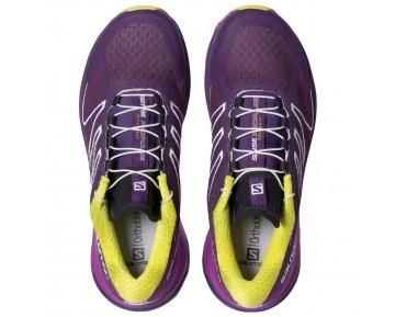 Chaussure Salomon SENSE PROPULSE W pour Femme Violet/Rose/Blanc Chaussures De Running 379089