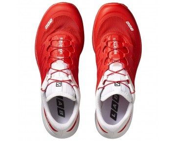 Chaussure Salomon S-LAB SENSE 5 ULTRA pour Homme Rouge/Blanc Chaussures De Running 379456_01