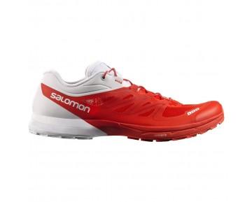 Chaussure Salomon S-LAB SENSE 5 ULTRA pour Femme Rouge/Blanc Chaussures De Running 379456_02
