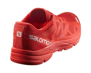 Chaussure Salomon S-LAB SONIC pour Femme Rouge Chaussures De Running 379459_02