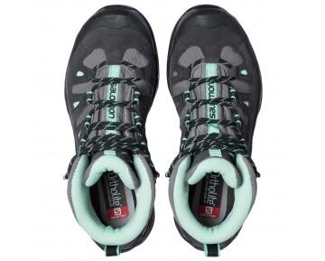 Chaussure Salomon QUEST PRIME GTX® W pour Femme Noir/Gris/Bleu-Vert Chaussures De Randonnée 380889