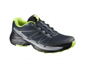 Chaussure Salomon WINGS PRO 2 pour Homme Bleu-nuit/Gris/Noir Chaussures De Running 381555