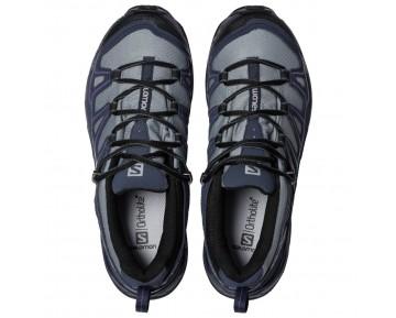 Chaussure Salomon X ULTRA PRIME CS WP W pour Femme Gris/Noir/Violet Chaussures De Randonnée 381585