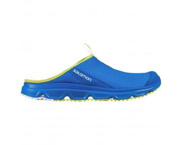 Chaussure Salomon RX SLIDE 3.0 pour Homme Bleu/Jaune Chaussures De Running 381605