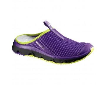 Chaussure Salomon RX SLIDE 3.0 W pour Femme Violet/Jaune Chaussures De Running 381612