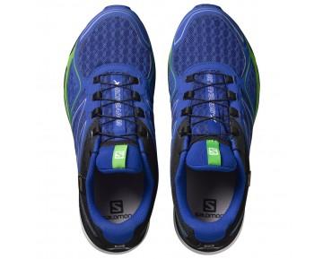 Chaussure Salomon X-SCREAM 3D GTX® pour Homme Bleu/Chartreuse/Noir Chaussures De Running 383111