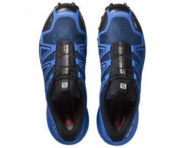 Chaussure Salomon SPEEDCROSS 4 CS pour Homme Bleu/Noir Chaussures De Running 383126