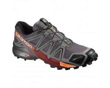 Chaussure Salomon SPEEDCROSS 4 CS pour Homme Gris/Rouge Chaussures De Running 383128