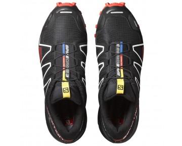 Chaussure Salomon SPIKECROSS 3 CS pour Femme Noir/Rouge Chaussures De Running 383154_02