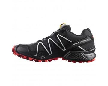 Chaussure Salomon SPIKECROSS 3 CS pour Homme Noir/Rouge Chaussures De Running 383154_01