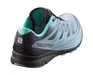 Chaussure Salomon SENSE MANTRA 3 W pour Femme Bleu-ciel/Noir Chaussures De Running 390133