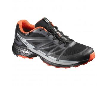 Chaussure Salomon WINGS PRO 2 GTX® pour Homme Noir/Gris/Oranger Chaussures De Running 390300