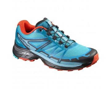 Chaussure Salomon WINGS PRO 2 W pour Femme Noir/Turquoise Chaussures De Running 390305