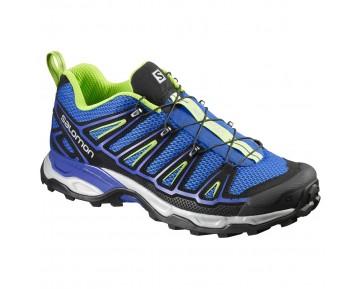 Chaussure Salomon X ULTRA 2 pour Homme Noir/Bleu/Jaune/Argent Chaussures De Randonnée 390413