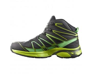 Chaussure Salomon X-CHASE MID GTX® pour Homme Noir/Vert-jaunâtre Chaussures De Randonnée 390466