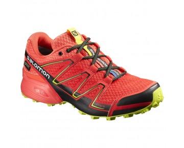 Chaussure Salomon SPEEDCROSS VARIO GTX® W pour Femme Rouge/Noir/Jaune Chaussures De Running 390545