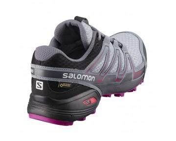 Chaussure Salomon SPEEDCROSS VARIO GTX® W pour Femme Gris/Noir/Violet Chaussures De Running 390546