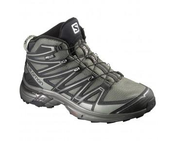 Chaussure Salomon X-CHASE MID CS WP pour Homme Noir/Gris Chaussures De Randonnée 390572