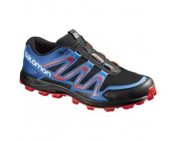 Chaussure Salomon SPEEDTRAK pour Homme Noir/Bleu Chaussures De Running 390623