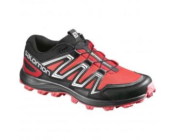 Chaussure Salomon SPEEDTRAK W pour Femme Rouge/Noir/Argent Chaussures De Running 390636