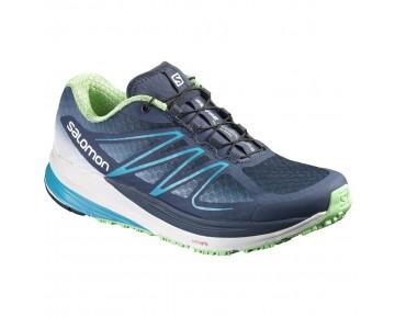 Chaussure Salomon SENSE PROPULSE W pour Femme Marine/Vert Chaussures De Running 390667