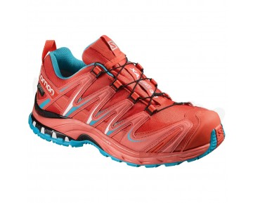 Chaussure Salomon XA PRO 3D GTX® W pour Femme Rouge/Bleu Chaussures De Running 390714