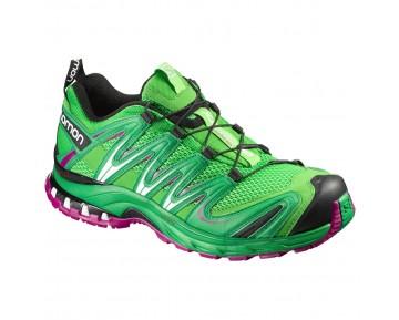 Chaussure Salomon XA PRO 3D W pour Femme Vert-Printanier/Noir/rose Rouge Chaussures De Running 390719
