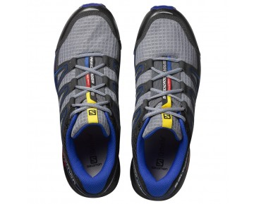 Chaussure Salomon SPEEDCROSS VARIO pour Homme Gris/Bleu-foncé Chaussures De Running 390786