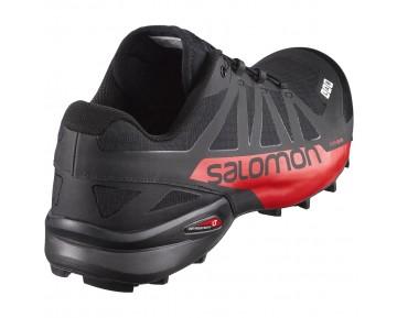 Chaussure Salomon S-LAB SPEEDCROSS pour Femme Noir/Rouge Chaussures De Running 391221_02
