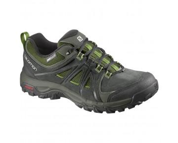 Chaussure Salomon EVASION CS WP pour Homme Noir/Vert Chaussures De Randonnée 391825