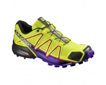 Chaussure Salomon SPEEDCROSS 4 W pour Femme Jaune/Bordeaux/Noir/Violet Chaussures De Running 391859